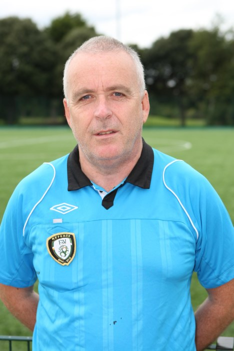 JFT96 v Drumfinn.Match Official Brian Coghlan.Photos by Ed Scannell.19/09/15